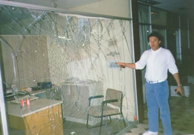 Glass-after-explosion