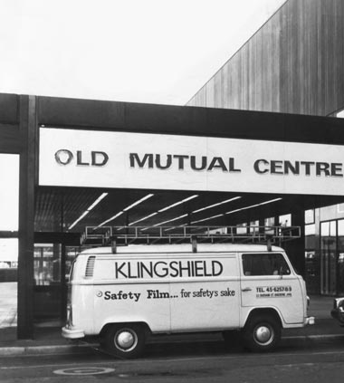 Klingshield's corporate installation vans