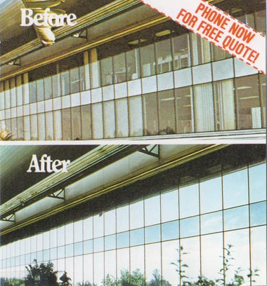 Klingshield's reflective window film on buildings