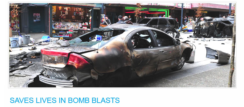 Klingshield Safety Film Stops Glass From Flying During Bomb Blasts