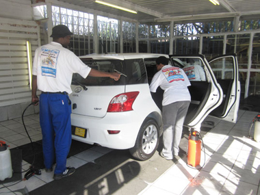 Klingshield's immaculate car window tinting centre