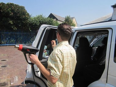 every window tint inspected for protection by Klingshield
