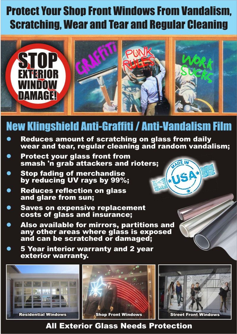 Anti Vandal Window Film 1