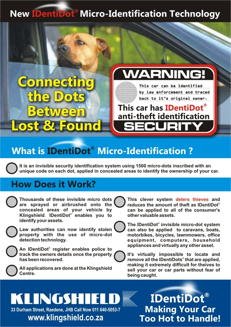 IDentiDot Crime Prevention front cover