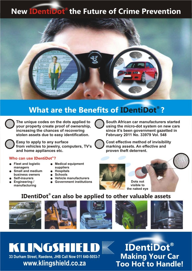 IDentiDot Crime Prevention back cover