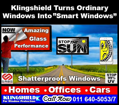 Klingshield shatterproof window film