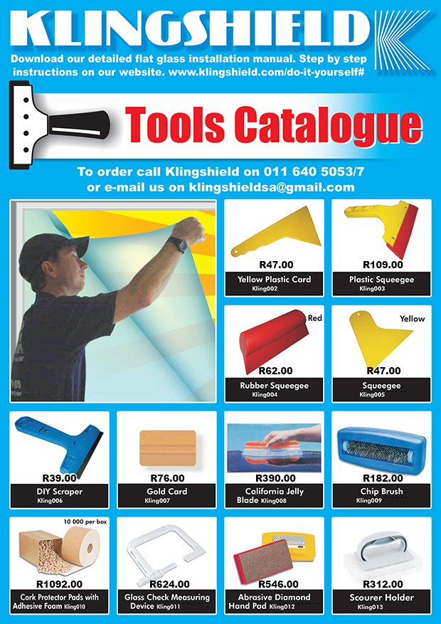 Tool Catalogue page 1