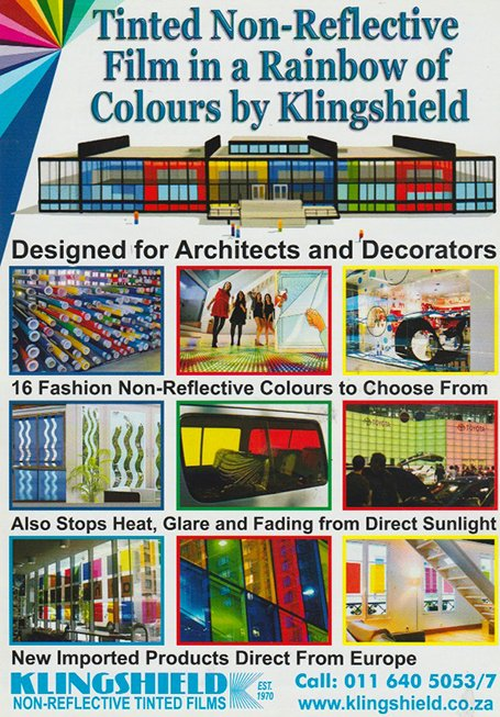 rainbow colour window film from Klingshield