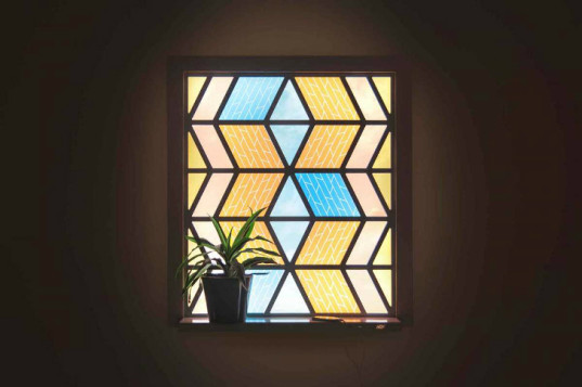 Solar-panel-stained-glass-window